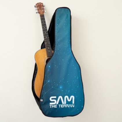 Monogram. You The Terran. Galaxy. Funny Gift. Guitar Case