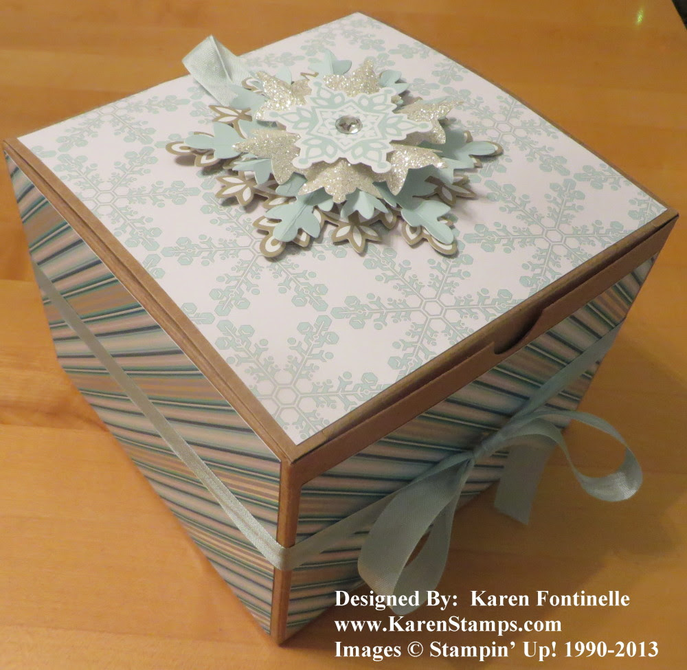 One More Christmas Present To Wrap Stamping With Karen