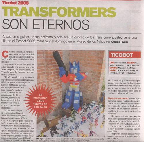 Ticobot anunciado en La Nacion del 31-Oct-2008