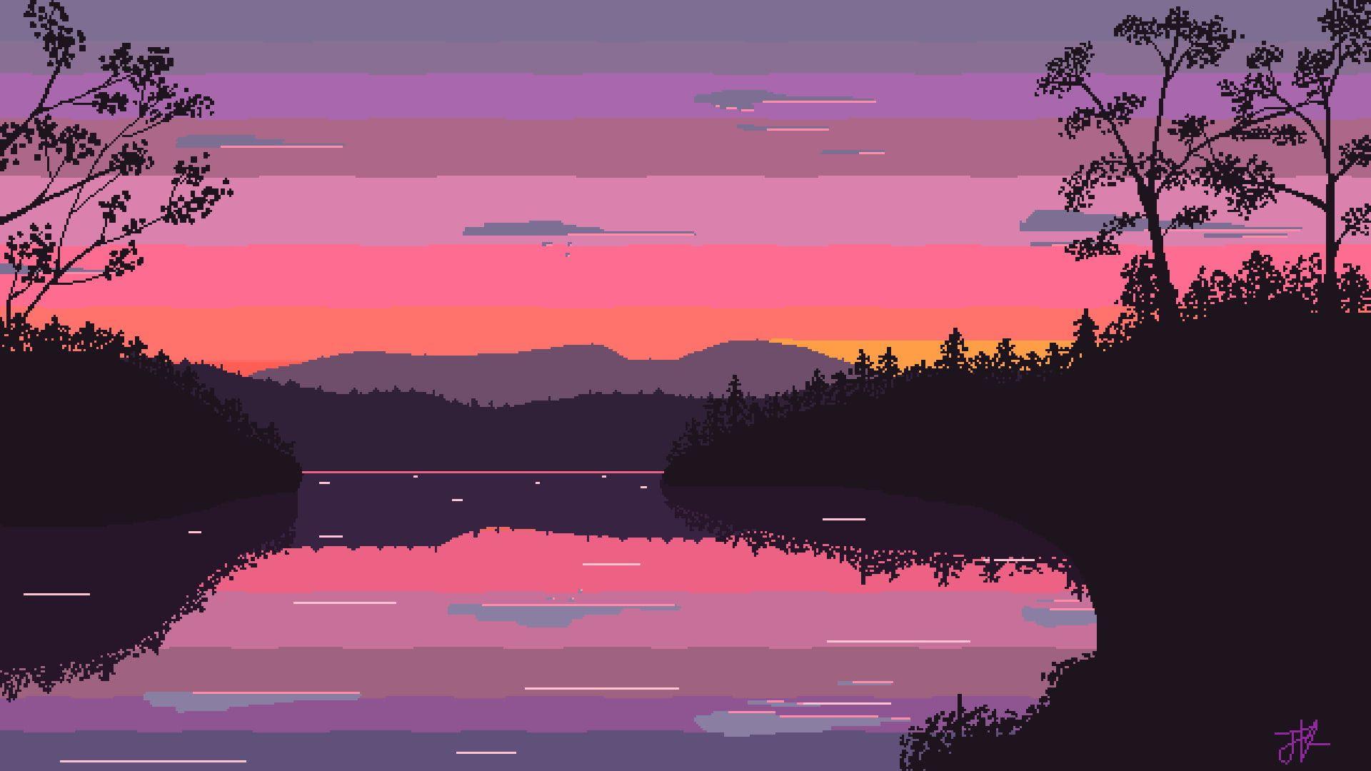 Aesthetic Pixel Art Widescreen Wallpaper 49289 - Baltana