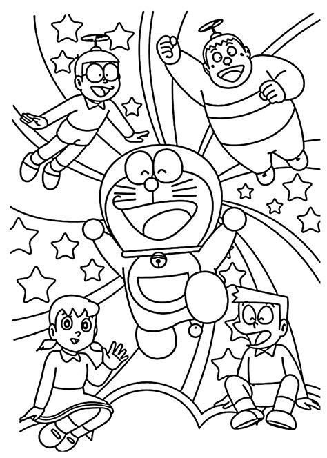 doraemon coloring pages    print