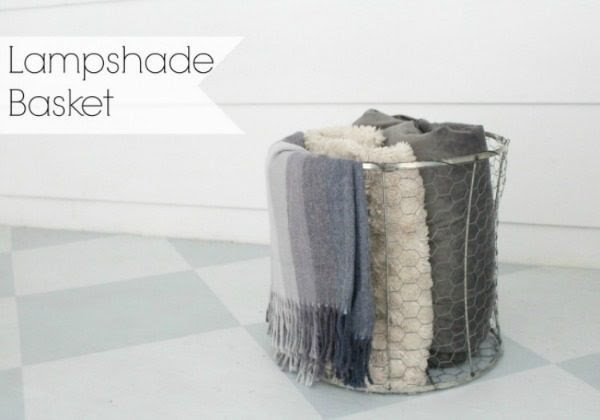 make a basket from an old lampshade