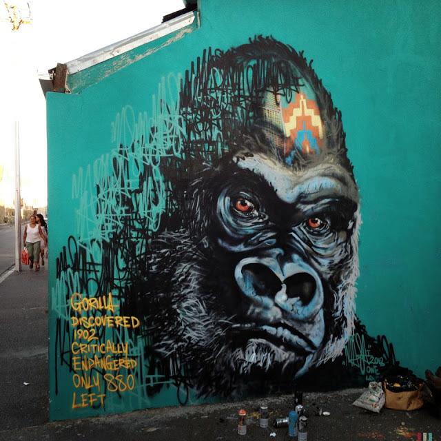 masai streetart capetown 01 Masai New Murals In Cape Town // South Africa