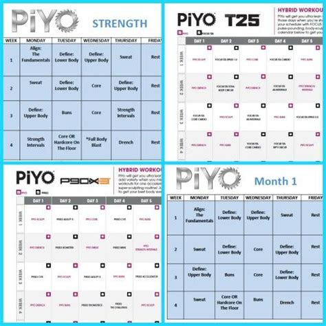 images  beachbody worksheets  schedules