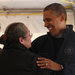 President Obama visited a hurricane relief center on Staten Island on Thursday.