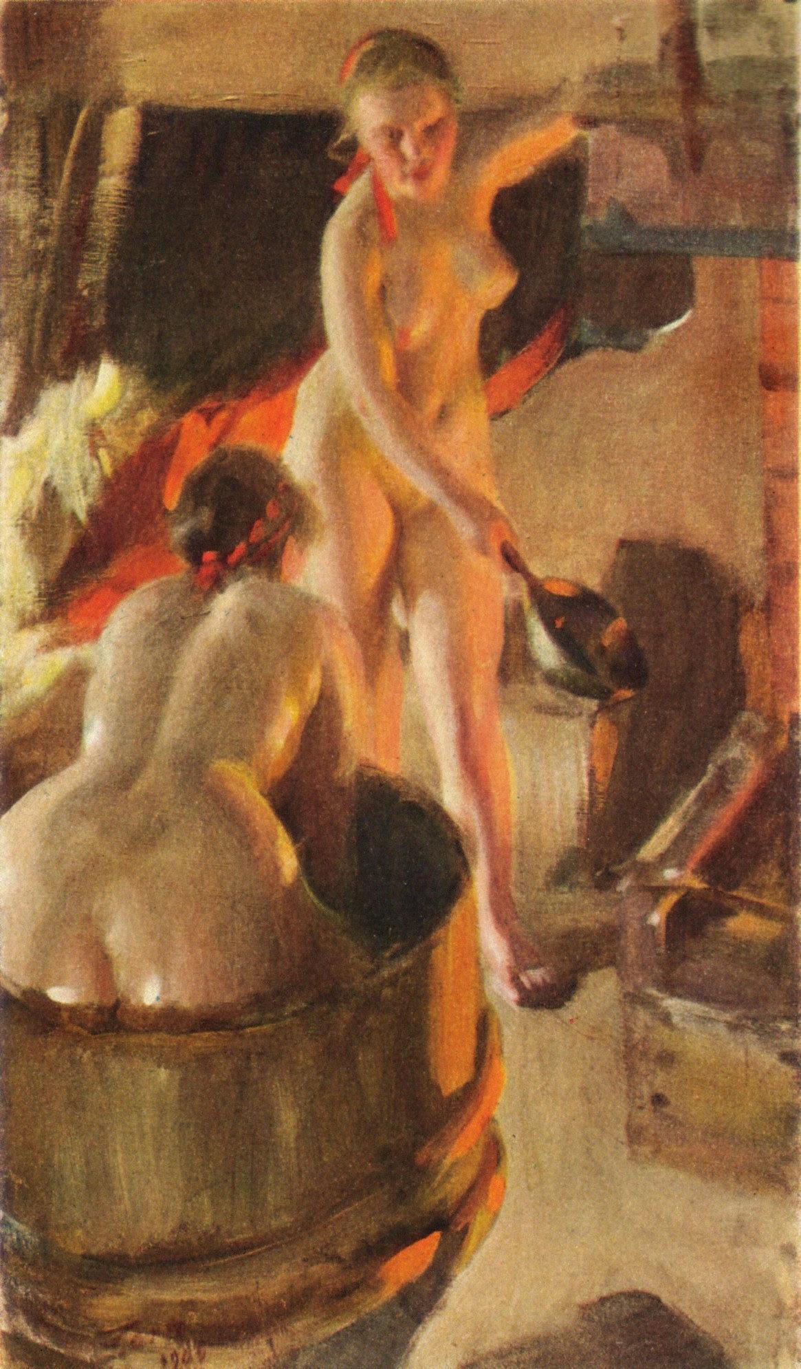 Badande kullor av Anders Zorn 1906