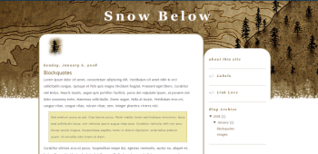 Snow Below Template