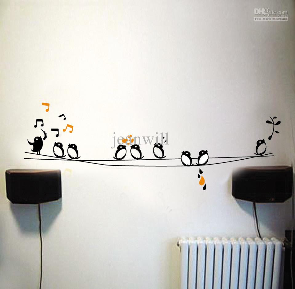 Wholesale Wall Stickers - Buy Removable Wall Sticker Decal Music