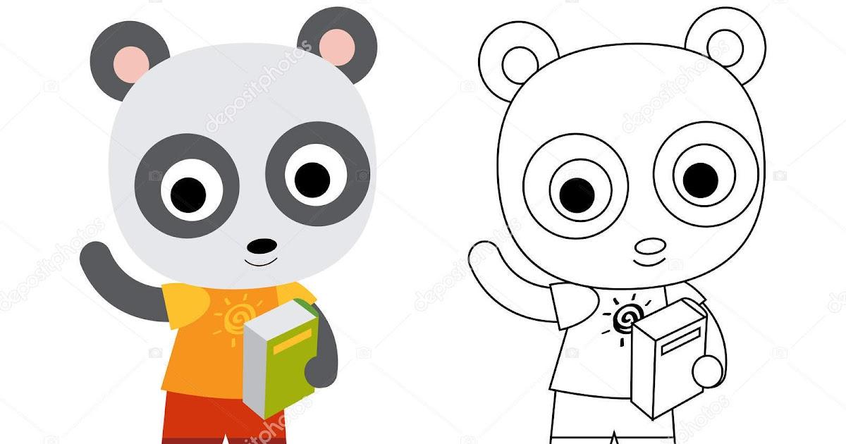 Okul öncesi Panda Boyama üst Ev Boyama Sayfası