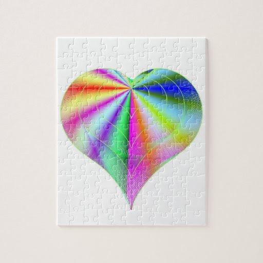 Valentine's Rainbow Puzzle Box