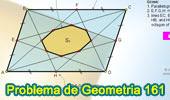 Problema de Geometría 161 (ESL): Paralelogramo, Puntos medios de los lados, Octógono, Área.