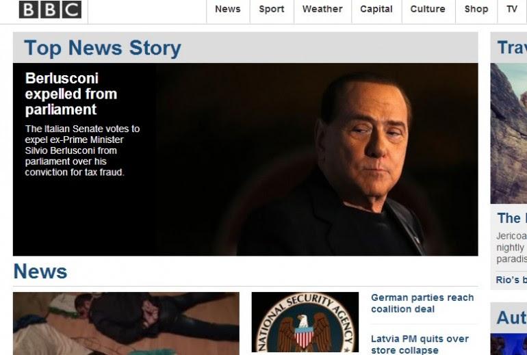 Berlusconi decaduto, le prime pagine di tutto il mondo