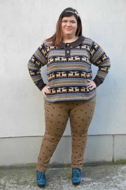 Outfit: maglione con le renne