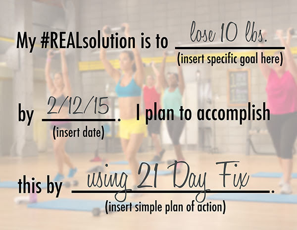 REALsolution contract using 21 Day Fix.