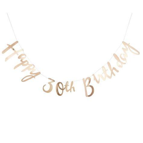 Gold Happy 30th Birthday Bunting 1.5m   Pick & Mix