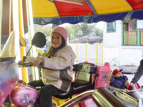 alexie on motorbike
