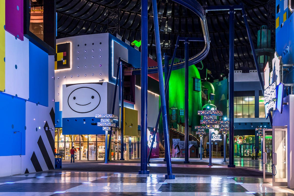 The park is divided into four zones: MARVEL, Cartoon Network, Lost Valley – Dinosaur Adventure, and IMG Boulevard. Pictured below is Cartoon Network zone which includes a 5D cinema and hosts up to 1,200 visitors an hour.