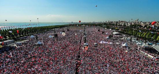 ختام مسيرة حاشدة ضد أردوغان