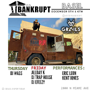 ART BY BANKRUPT'S LIVE ART EXHIBIT AT GRAILS SPORTS BAR DECEMBER 5TH AND 6TH