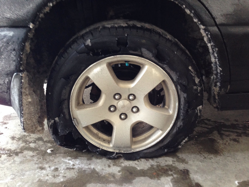 Tire Blowout Size Difference Question Subaru Forester