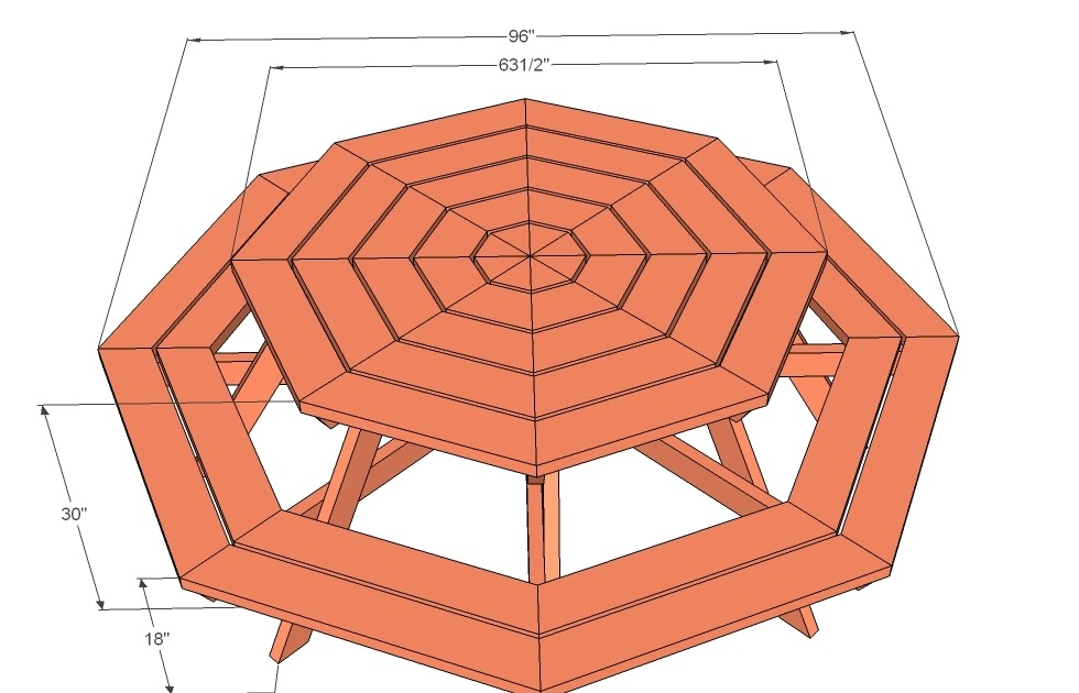 Free octagon picnic table plans pdf | Odi Woodworkers
