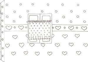 Cute Free Printable Coloring House.