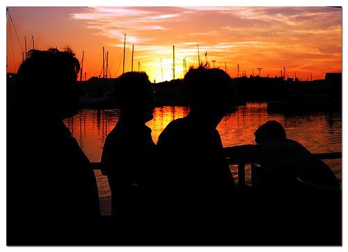 en el puerto de Gijón