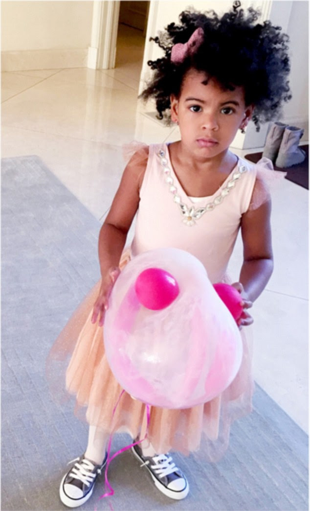 Birthday girl Blue: In newly released snaps, shared on Beyoncé's Tumblr page, fans got the chance to look inside Blue Ivy's lavish fourth birthday in January