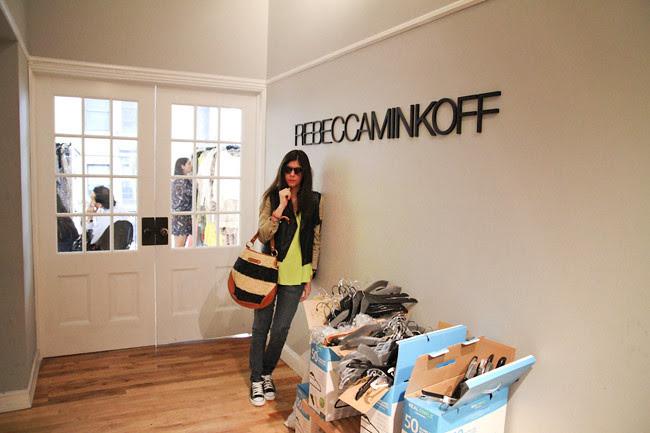 Rebecca Minkoff Showroom, Soho New York, New York Fashion Week