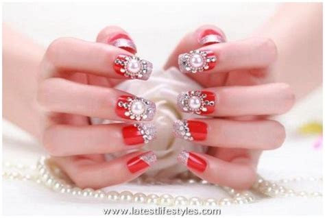 Bridal Nail Art Ideas ? Wedding Nails Polish Designs 2015