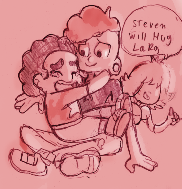Just a quick rough sketch okay, I just had to go, LARS IS MY THIRD FAVORITE NOW OKAY.