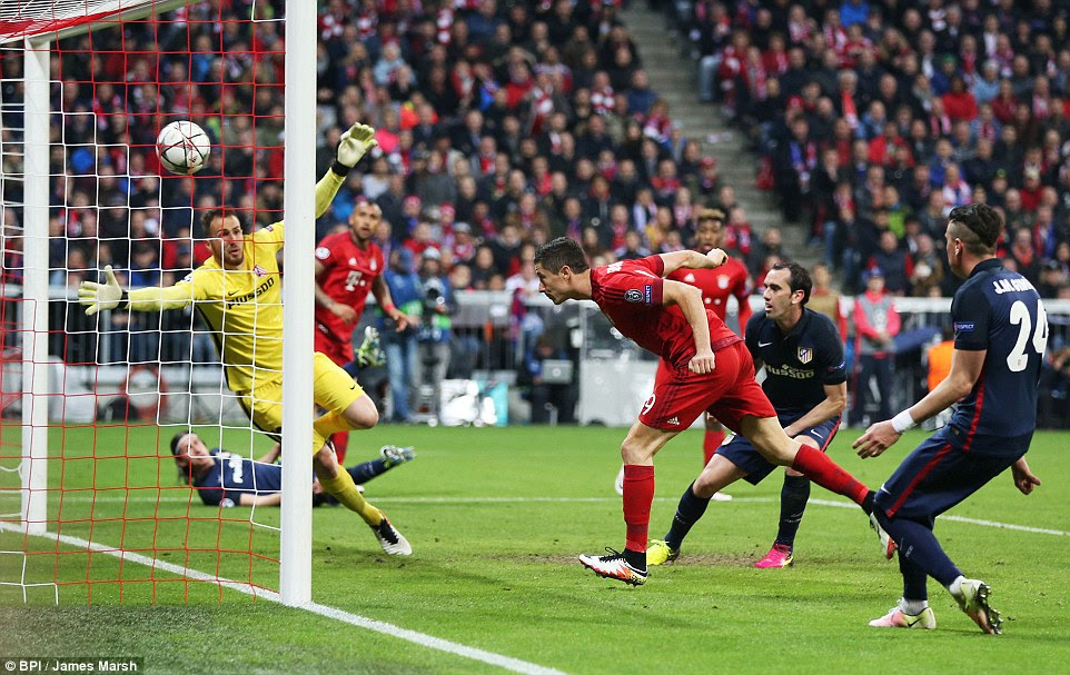 Robert Lewandowski gave Bayern Munich hope on Tuesday night but the Germans crashed out of the semi-final on away goals