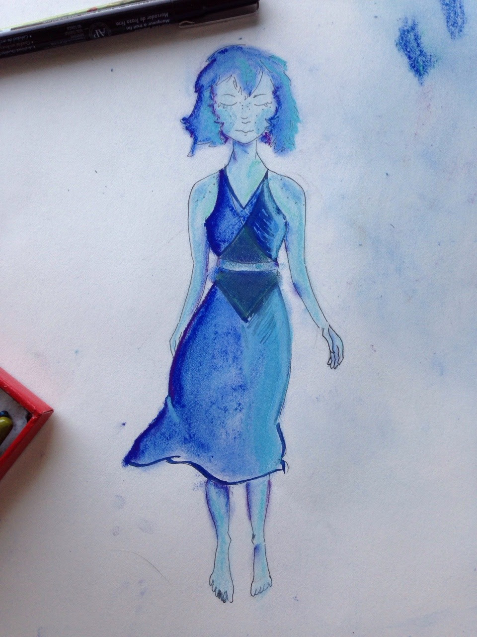 Wildly disproportionate Lapis. Because I want to draw more of her and also need to by just draw faces.