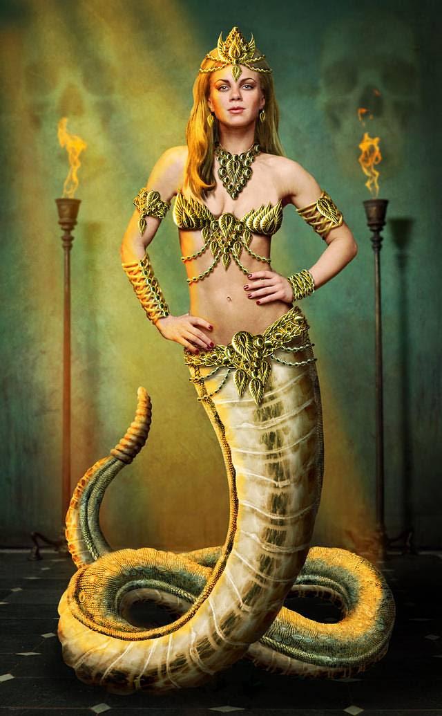 Lamia sentía envidia de las otras madres y devoraba a sus hijos. Tenía el cuerpo de una serpiente y los pechos y la cabeza de una mujer.