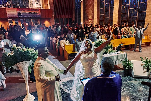 Pastors Vanessa Brown and Twanna Gause met at a church as teenage choir singers,became lesbians and wedded each other 30 years later.
