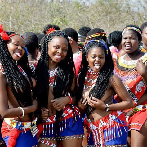 Swati Maidens In Colourful Traditional Attire For The Reed