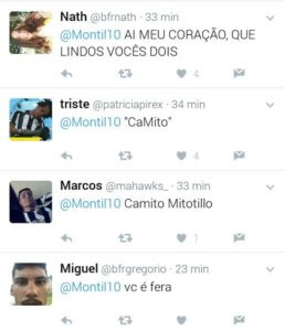 Reprodução: Twitter Montillo