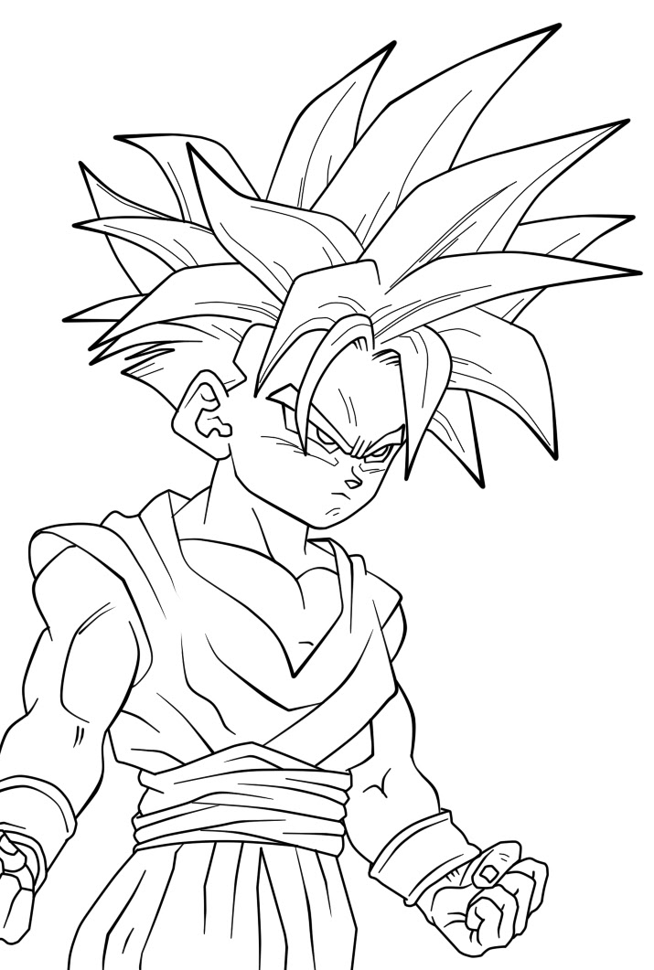 Gohan Super Sonic Colouring Pages Az Dibujos Para Colorear