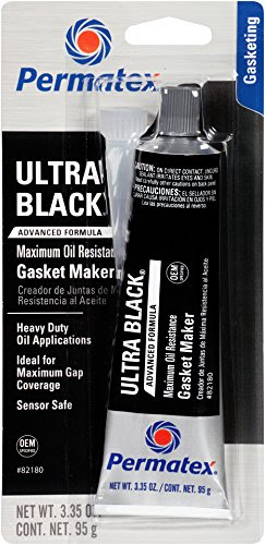 Permatex 82180 Ultra Black Maximum Oil Resistance RTV Silicone Gasket Maker, 3.35 oz. Tube