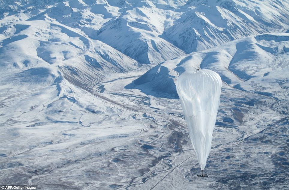 The high altitude balloons have been sent to the edge of space in the experiment