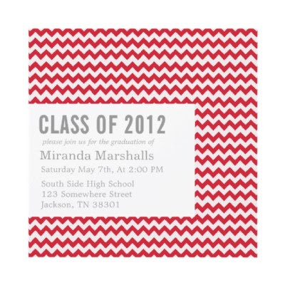 Chevron Design #Graduation Announcements
