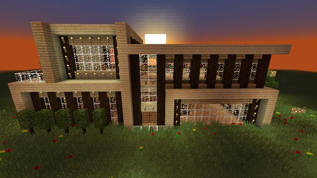 Wood House Design Minecraft