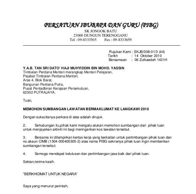 Contoh Surat Rasmi Kepada Perdana Menteri Rasmi Ru