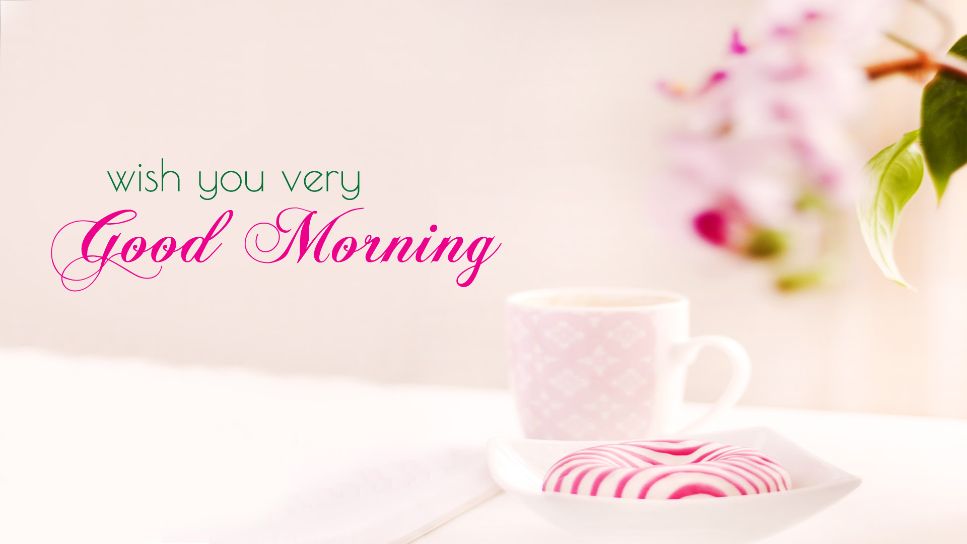 Good Morning Wallpaper With Flowers Full Hd 1920x1080 Gm Images