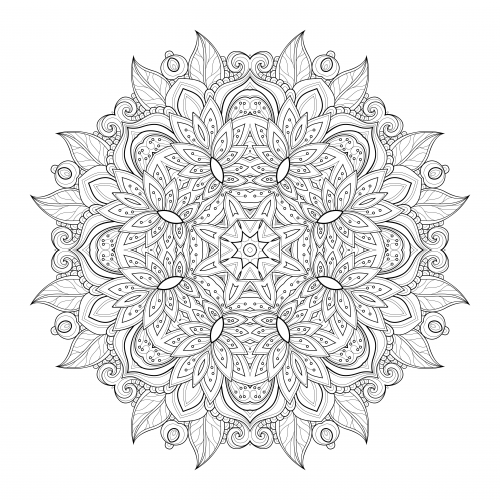 Advanced Mandala Coloring Pages \u2013 Tenaciouscomics.com