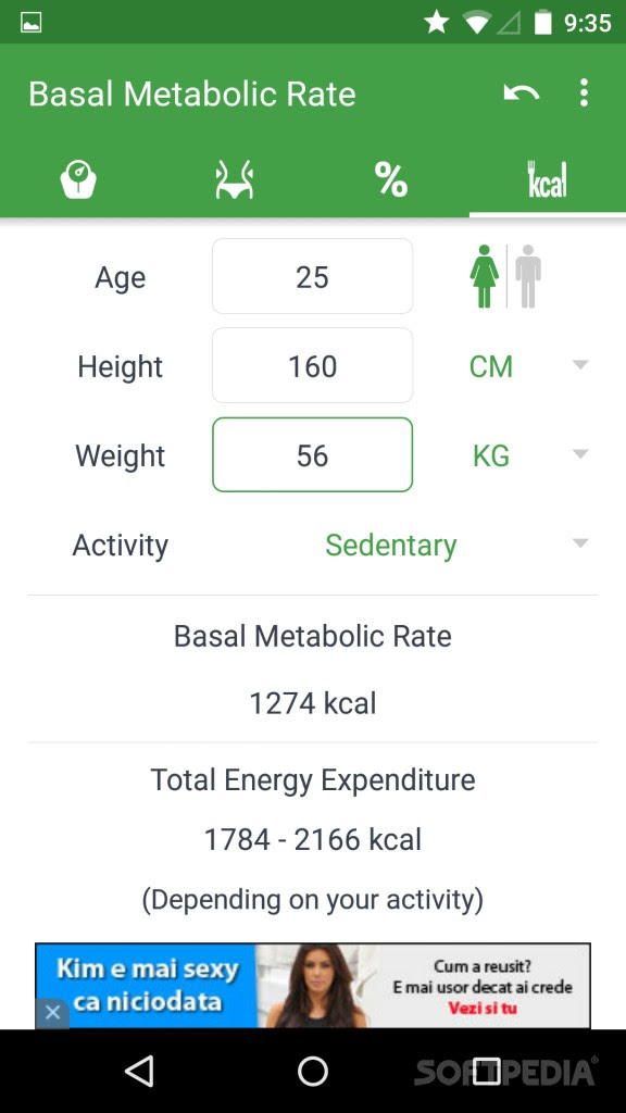 body fat percentage calculator app