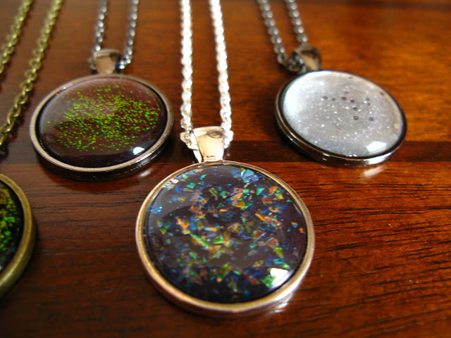 More nail polish pendants