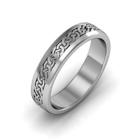 14k White Gold Irish Handcrafted Celtic Design Anniversary