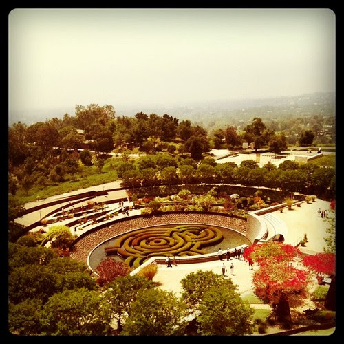the gardens at the Getty