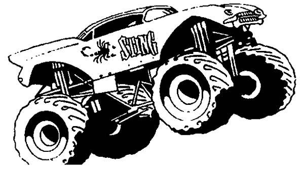 Monster Jam Goldberg Monster Truck Coloring Pages: Monster ...